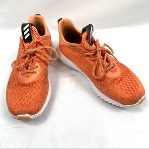 ADIDAS Alpha Bounce Orange Sneakers - Women's 8